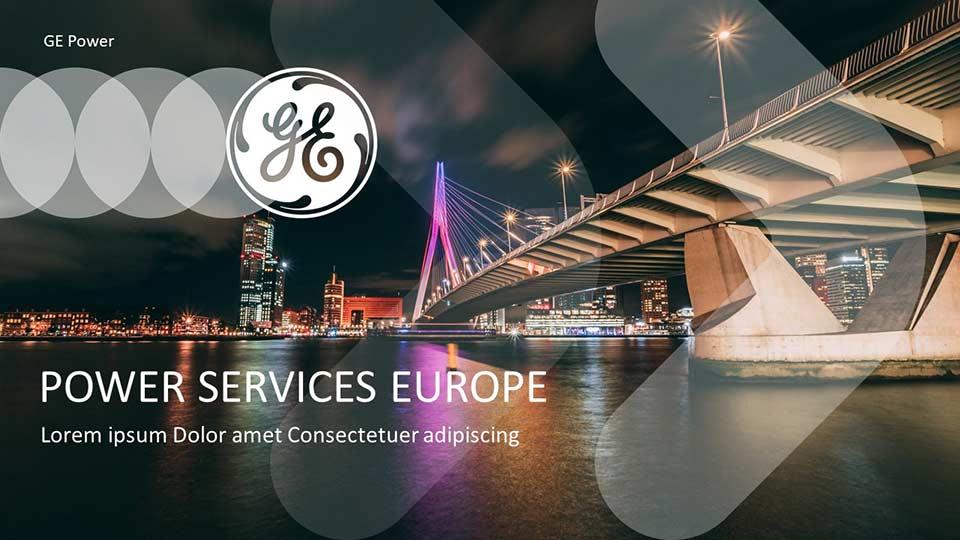 Präsentationen gemäß Styleguide und Corporate Design für General Electric, Schweitz