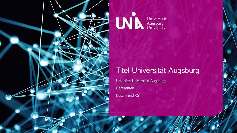 beispiel: universität augsburg-folienmaster -